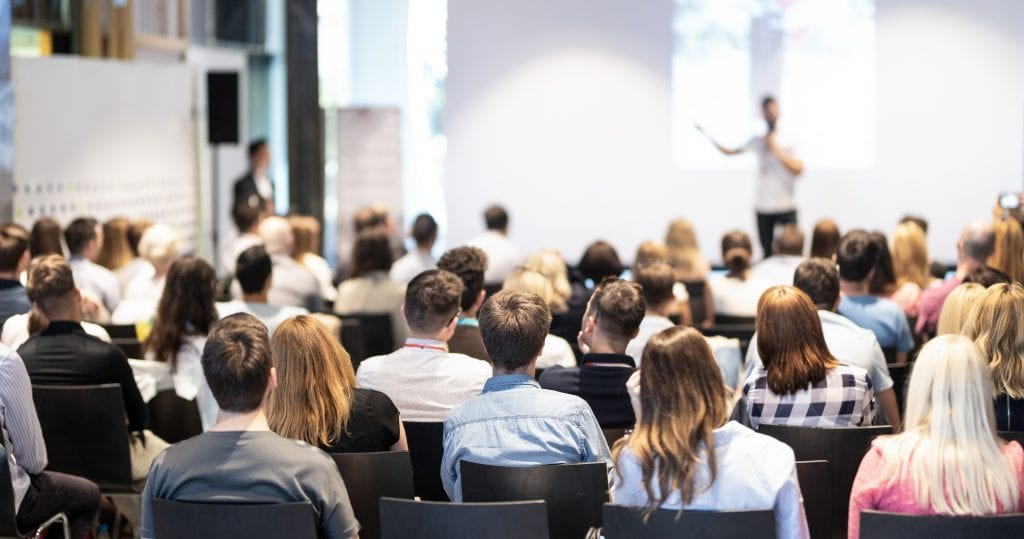 Stock imagery of conference