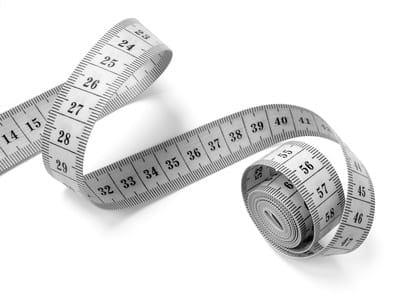 measuring tape on white